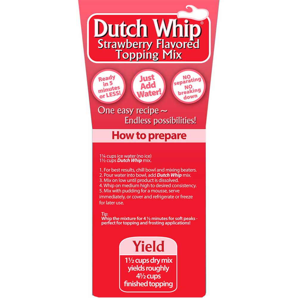 Strawberry Dutch Whip