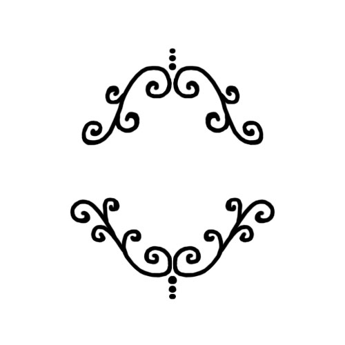Scroll Mat- 4 3/4