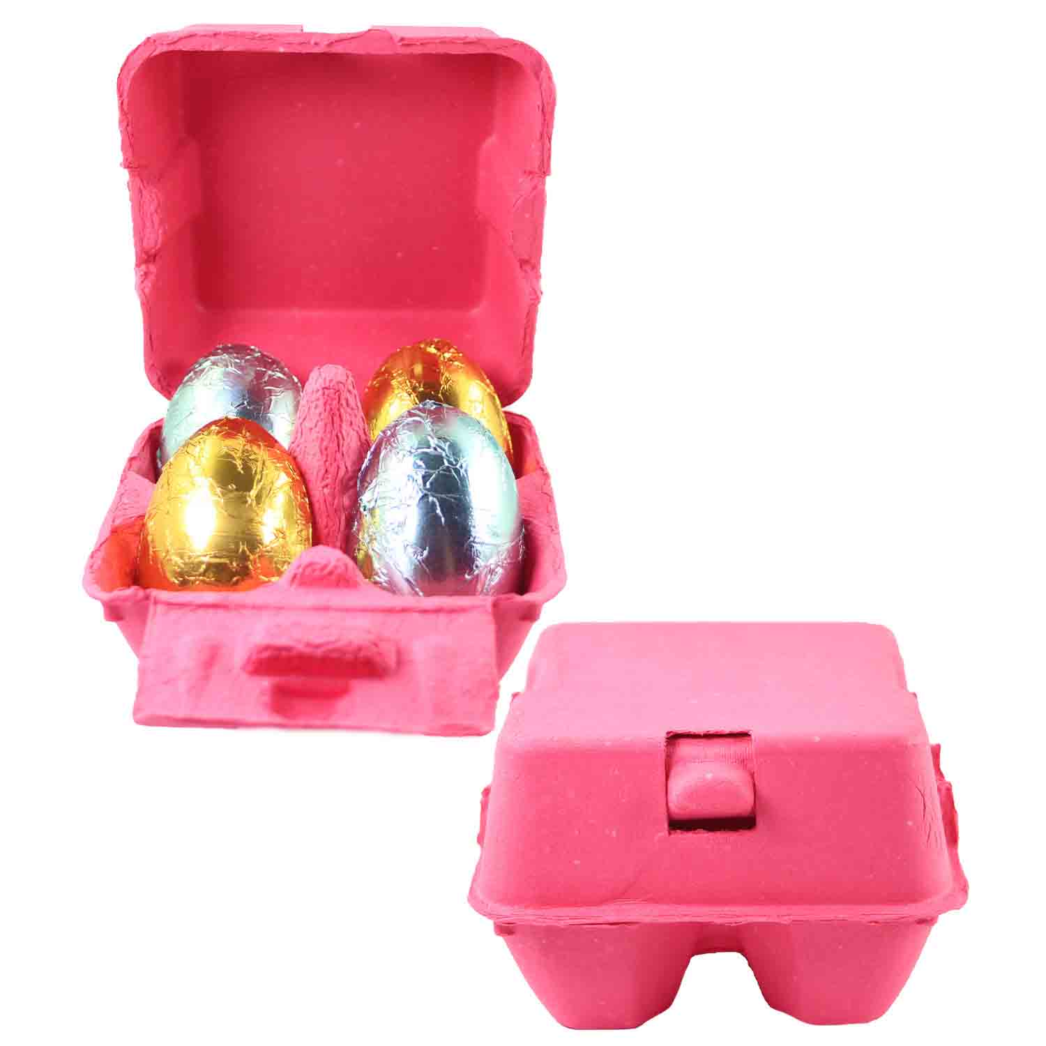 Hot Pink 4-Egg Carton