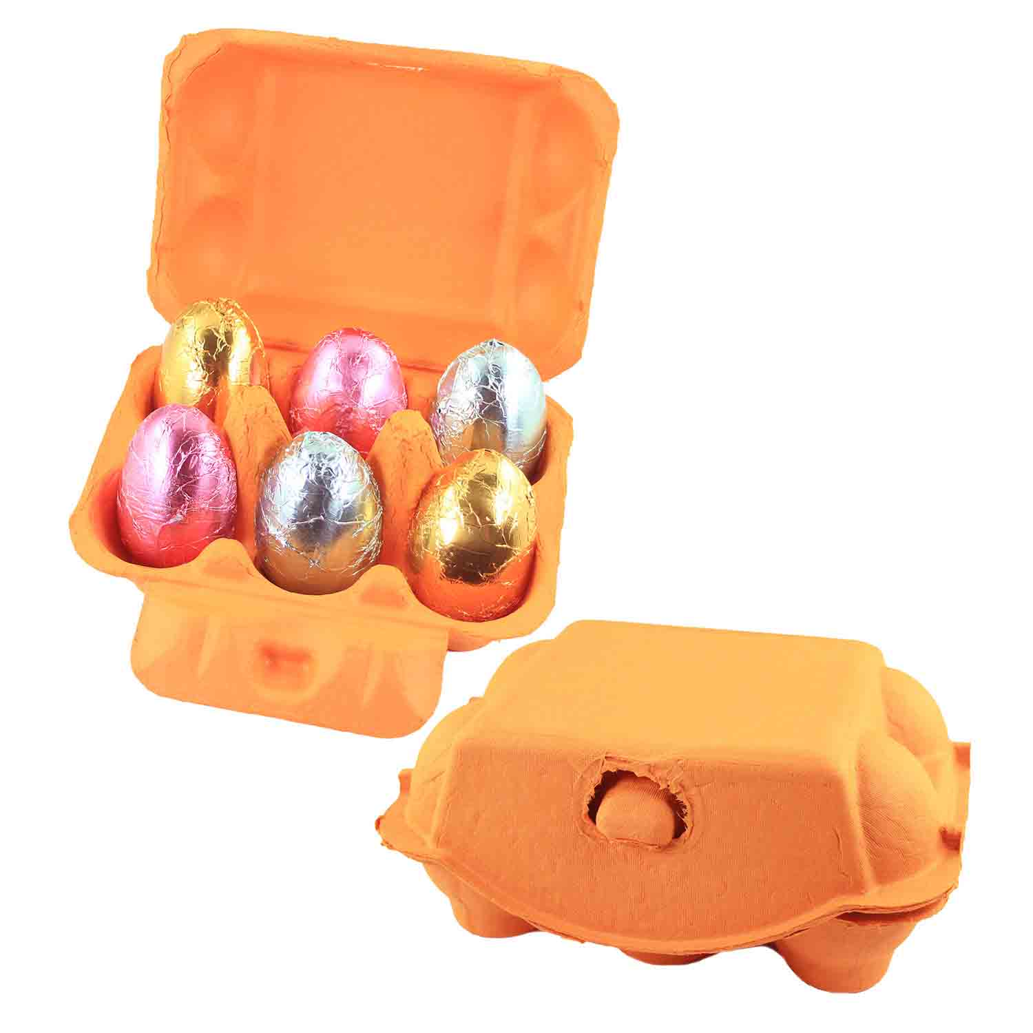 Orange 6-Egg Carton