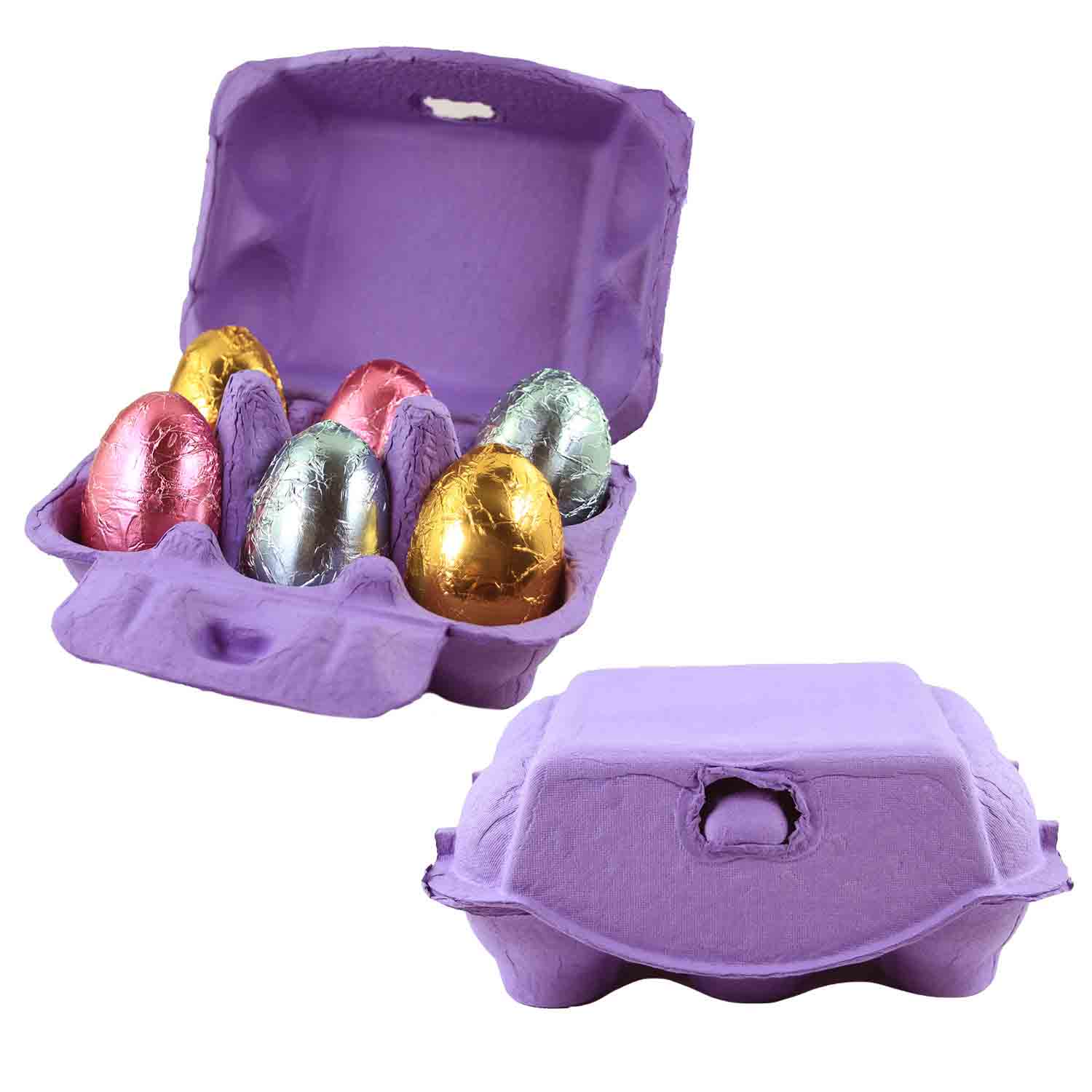 Purple 6-Egg Carton