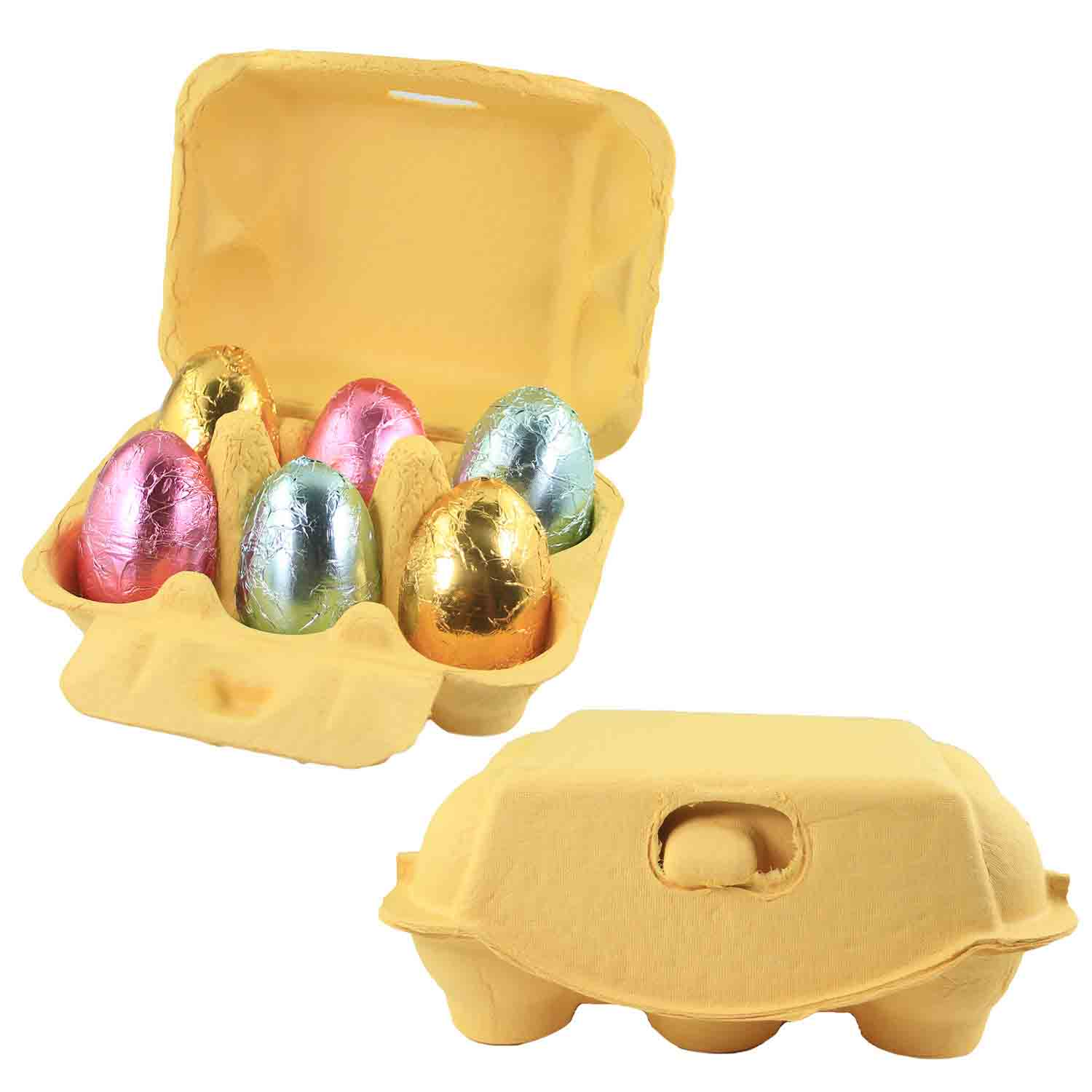 Yellow 6-Egg Carton