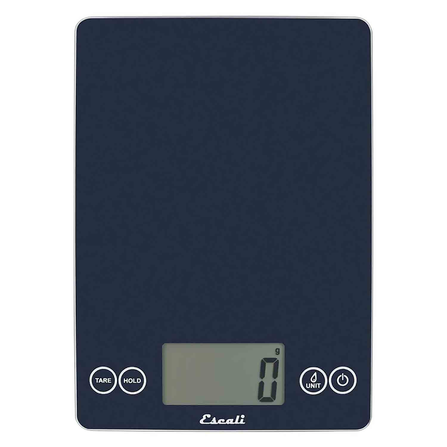 Metallic Blue Arti Glass Digital Scale