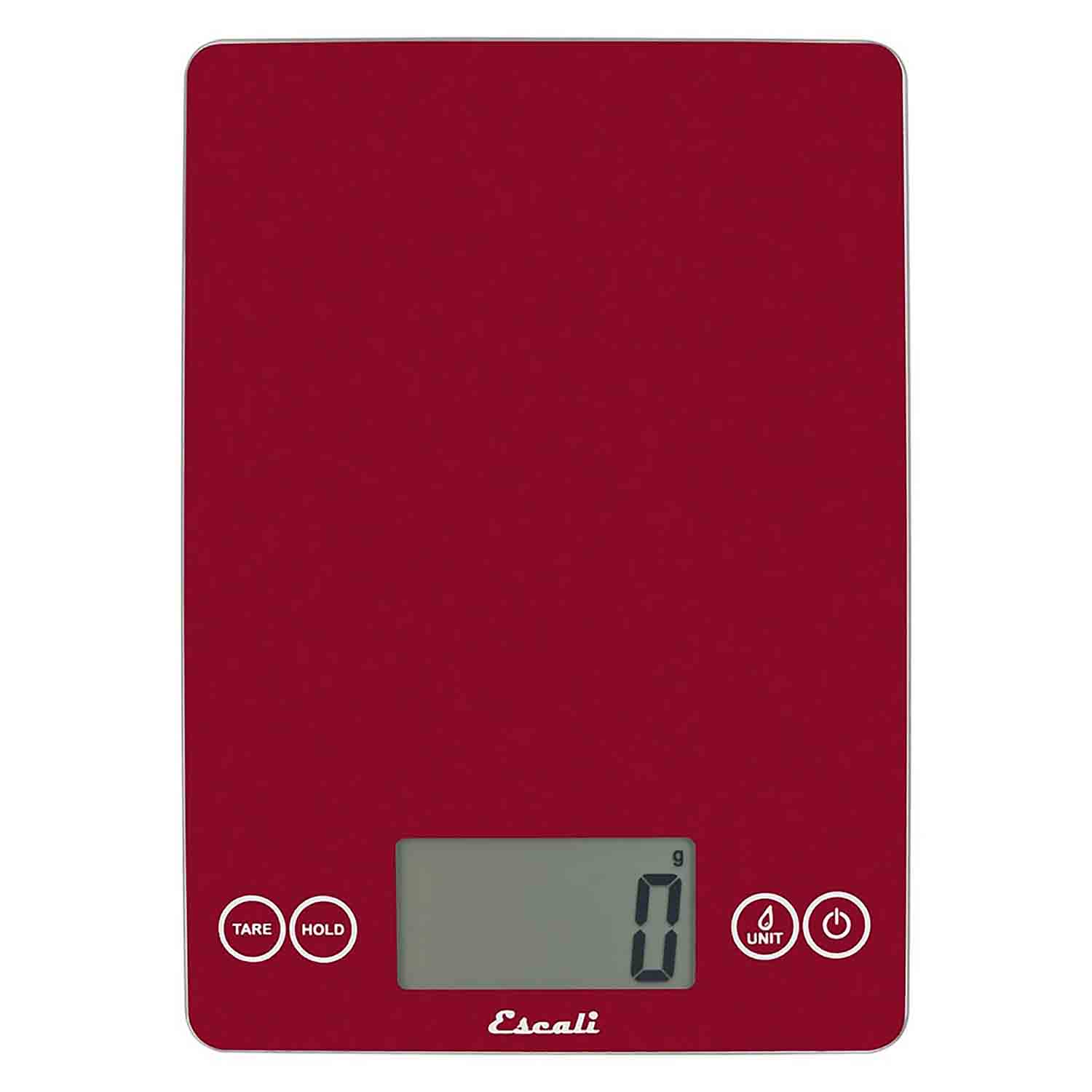 Metallic Red Arti Glass Digital Scale