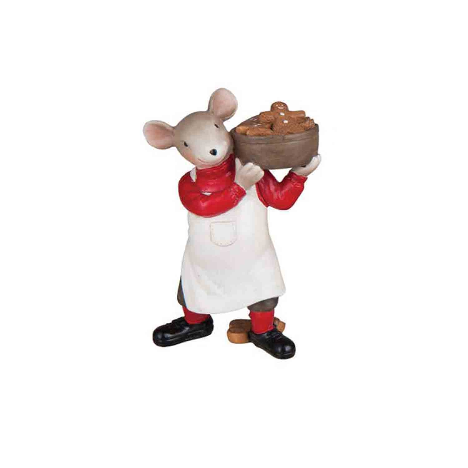 Christmas Mouse Gingerbread Baker Ornament