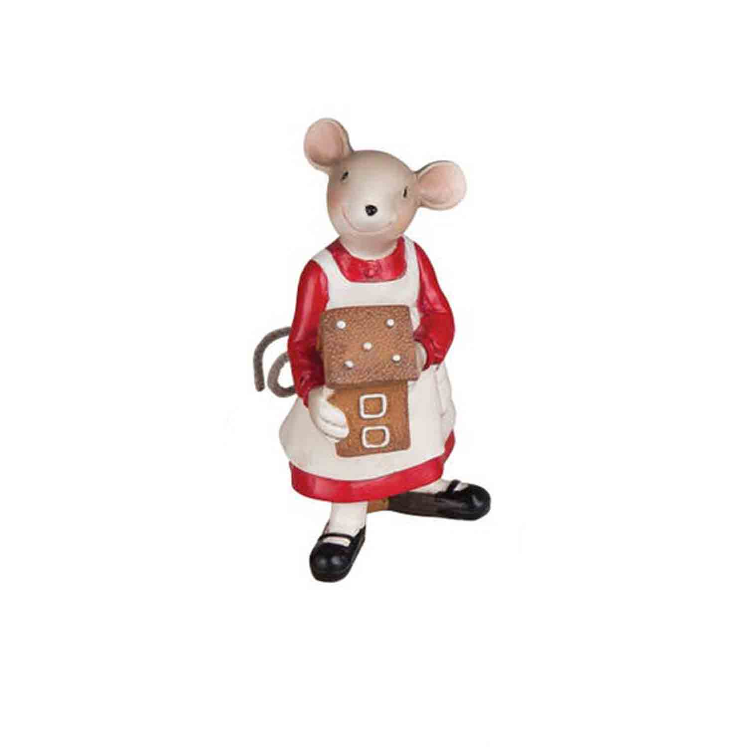 Christmas Mouse Gingerbread Girl Ornament