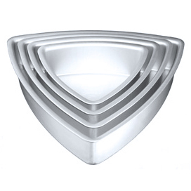 Convex Triangle Cake Pan-14""