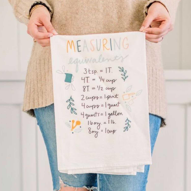 Measuring Equivalents Flour Sack Towel