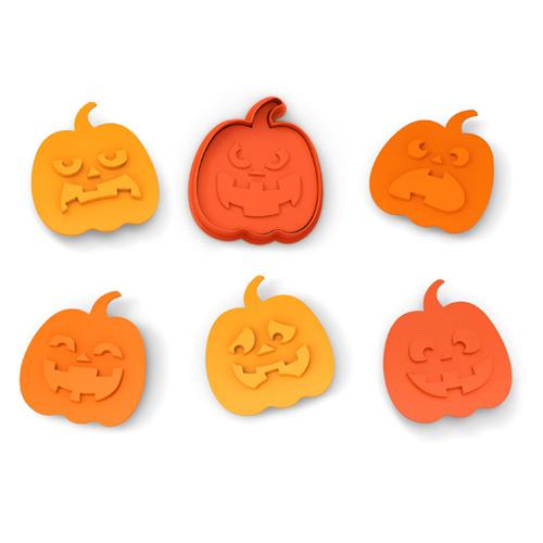 Jack-o-lantern Cookie Cutter Stamp Set