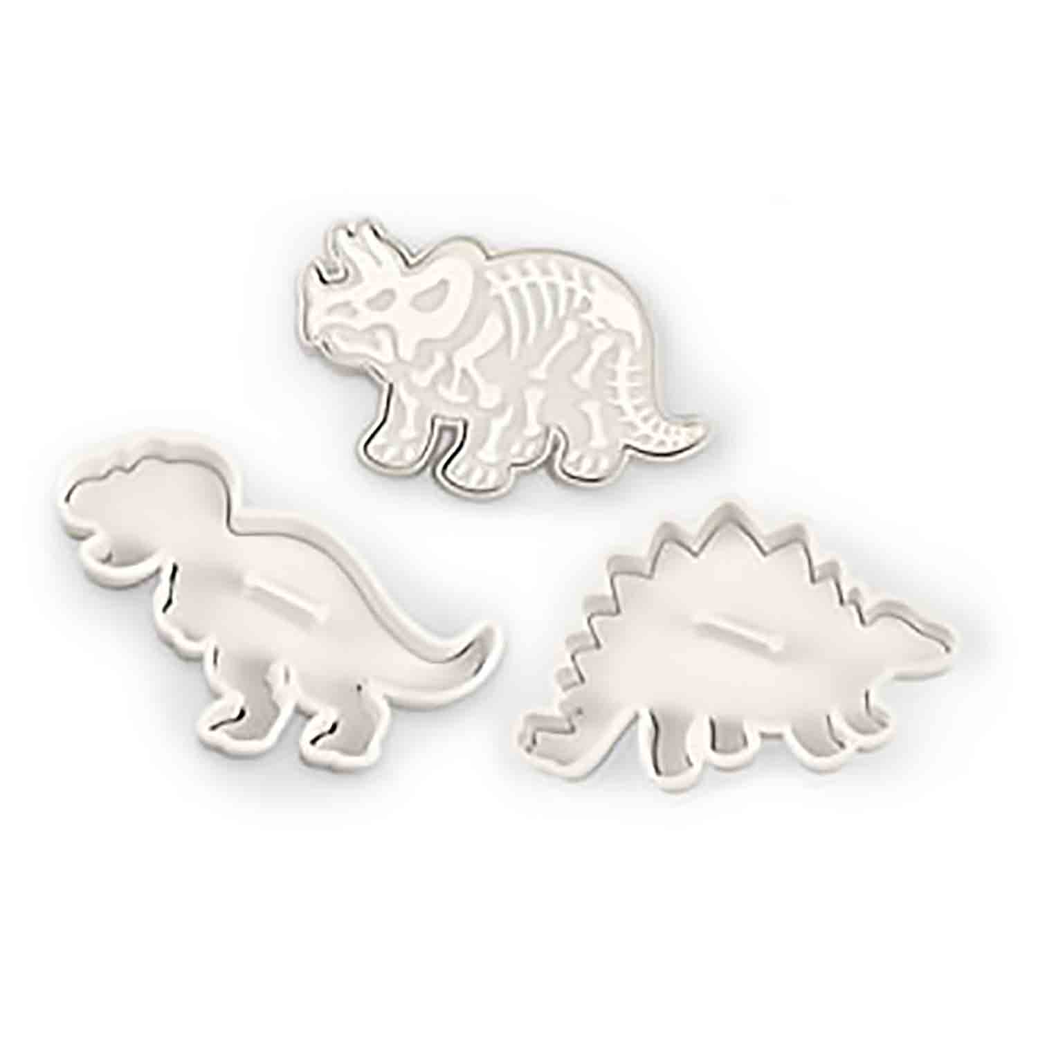 Dinosaur Fossil Cookie Cutter Stamp Set