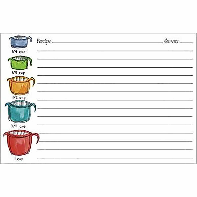 Measuring Cup Recipe Cards