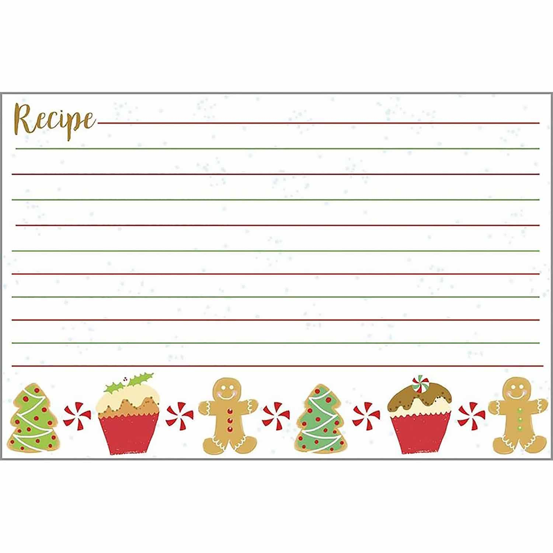 Christmas Treats Recipe Cards