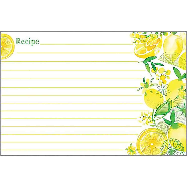 Lemon Lime Recipe Cards