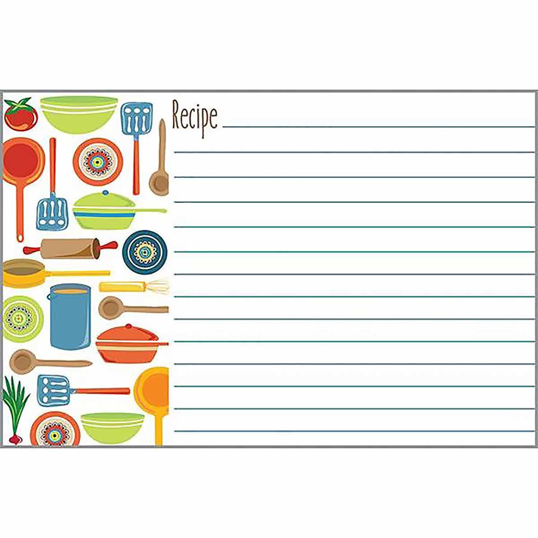 Pots & Pans Recipe Cards