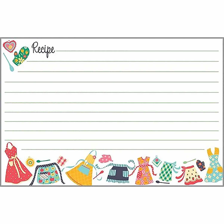 Cute Aprons Recipe Cards