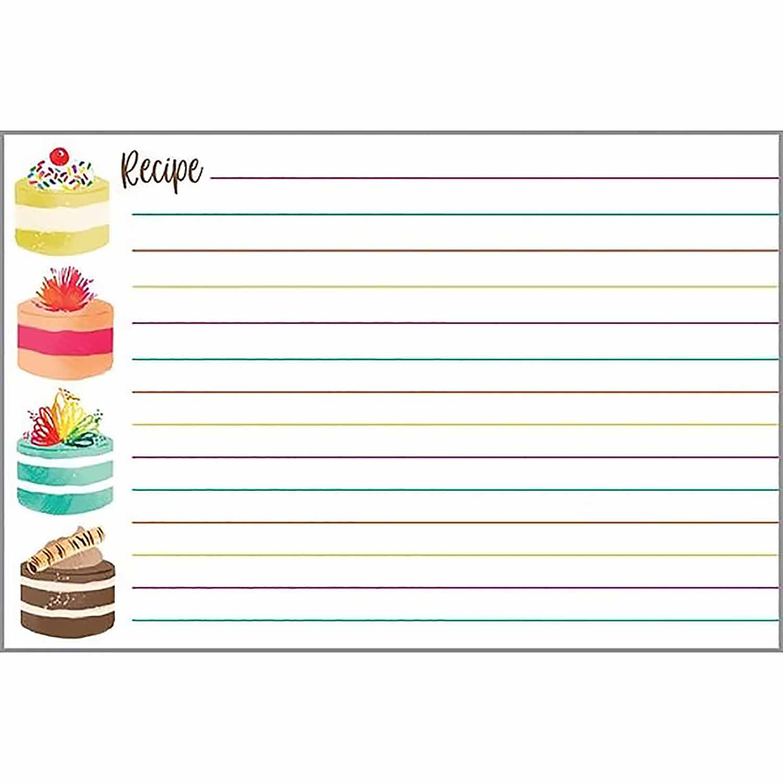 Round Cake Recipe Cards