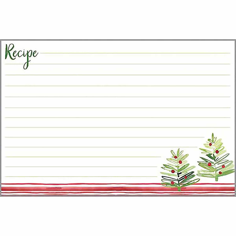 Merry Trees Recipe Cards