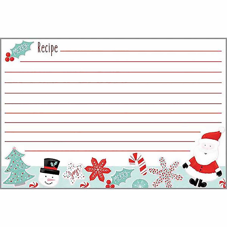 Christmas Cookies Recipe Cards