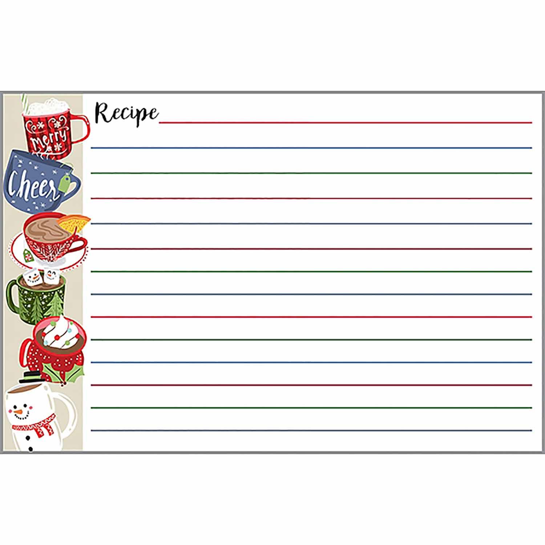Christmas Mugs Recipe Cards