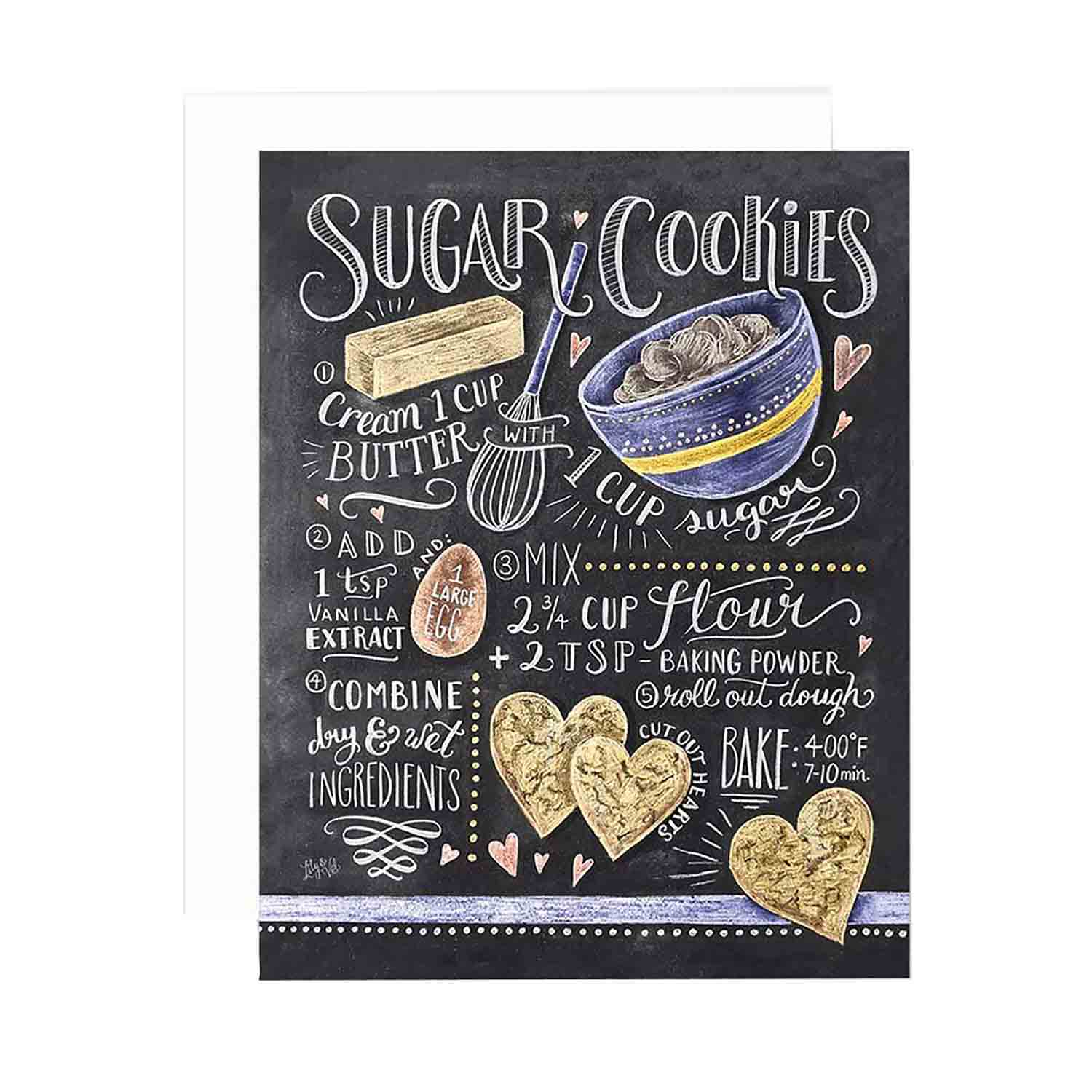Sugar Cookie Recipe - Notecards