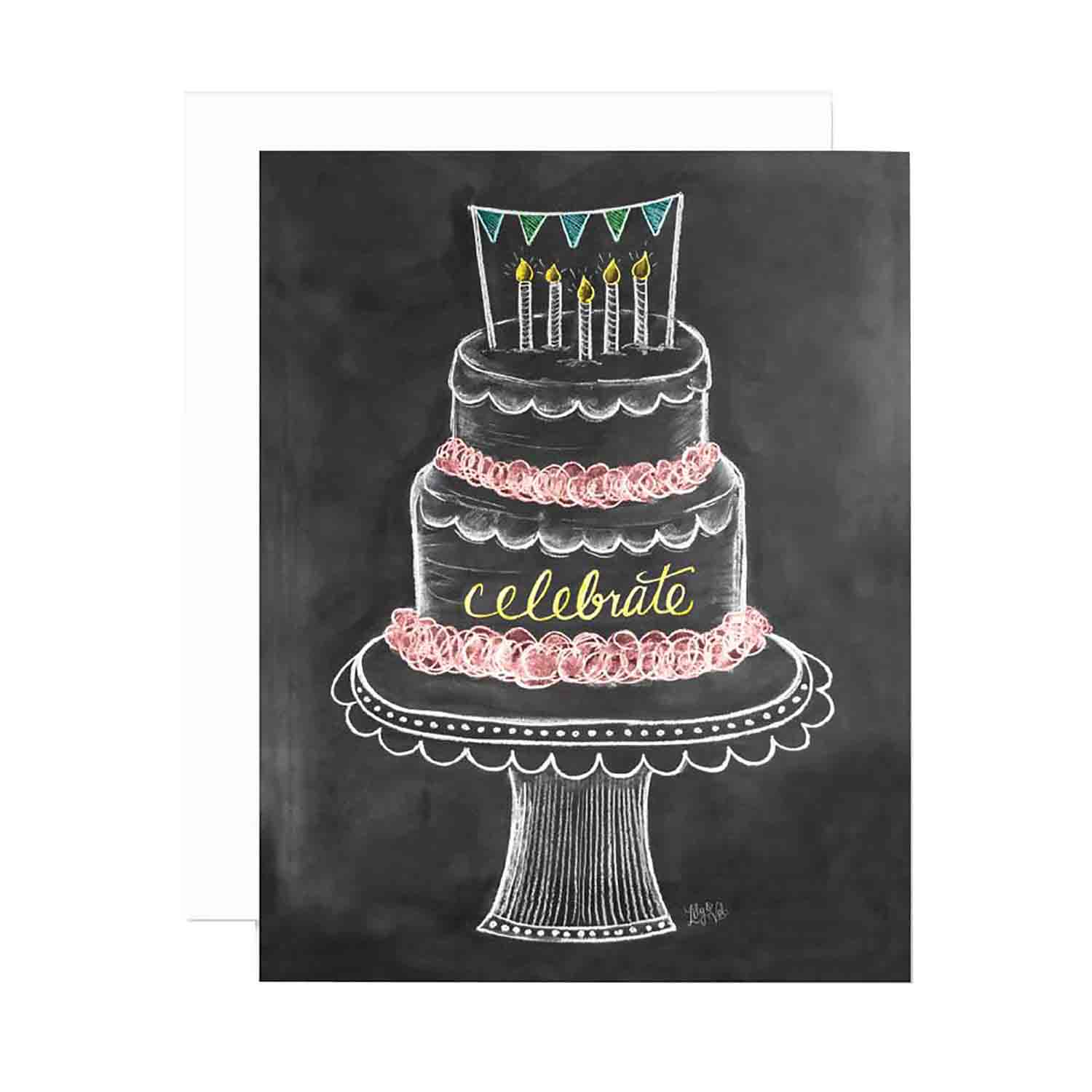 Birthday Cake Celebrate - Notecards