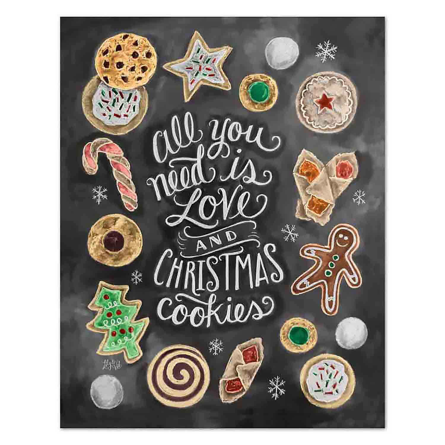 Love and Christmas Cookies - Print