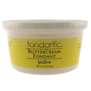 Yellow Fondarific Rolled Fondant