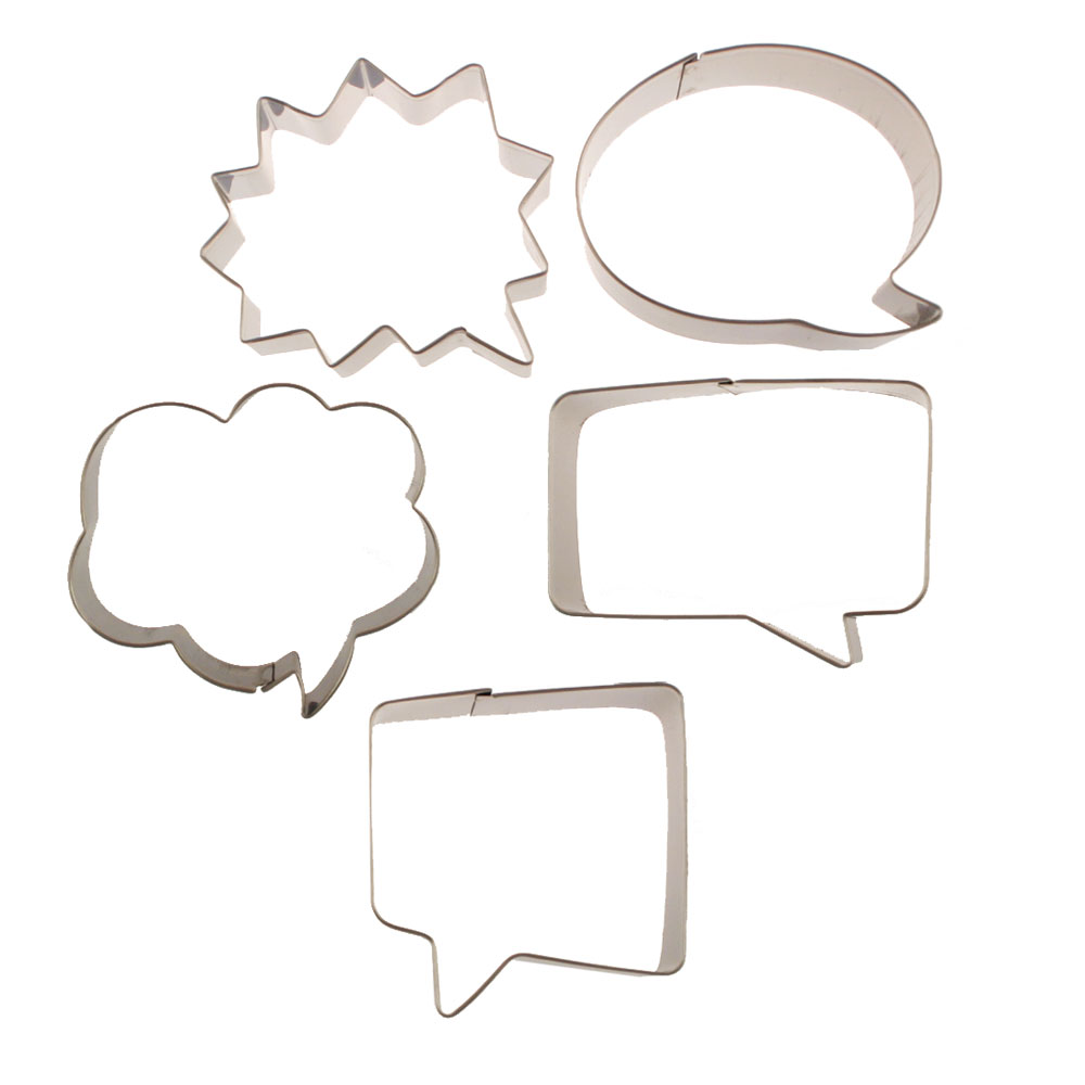 Word Balloons Cookie Cutter Set