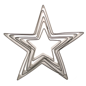 Pointed Star Cookie Cutter Set