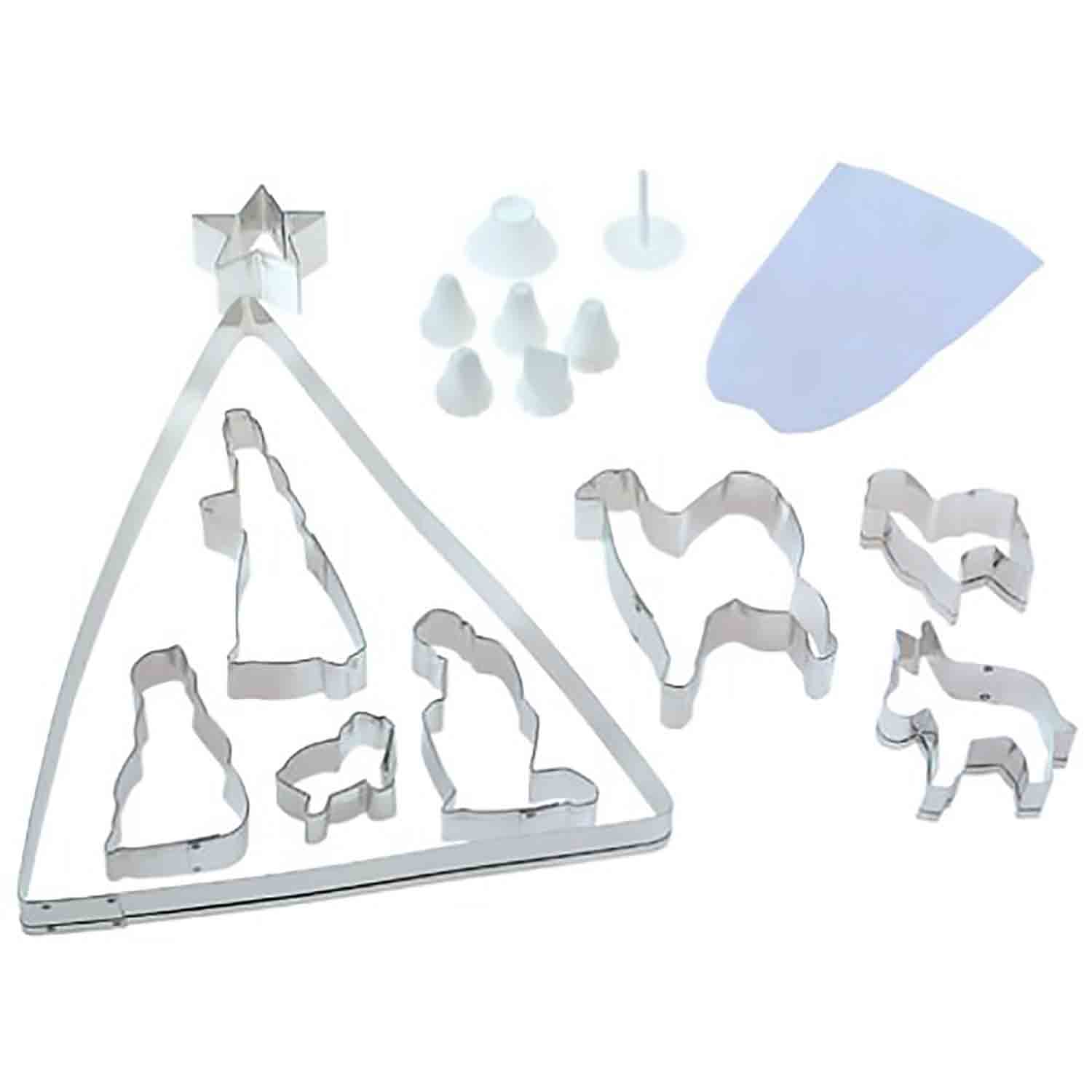 Nativity Cookie Cutter and Decorating Set