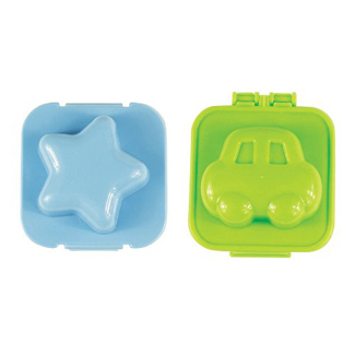 Star and Car Hard Boiled Egg Molds