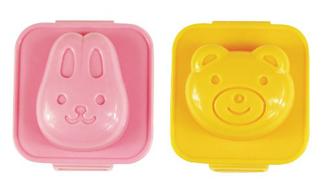 Bear and Bunny Hard Boiled Egg Molds