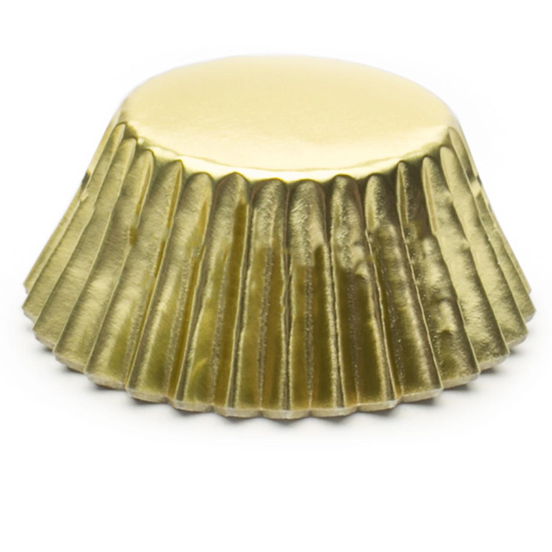 Gold Foil Mini Baking Cups