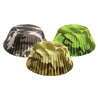 Camouflage Standard Baking Cups