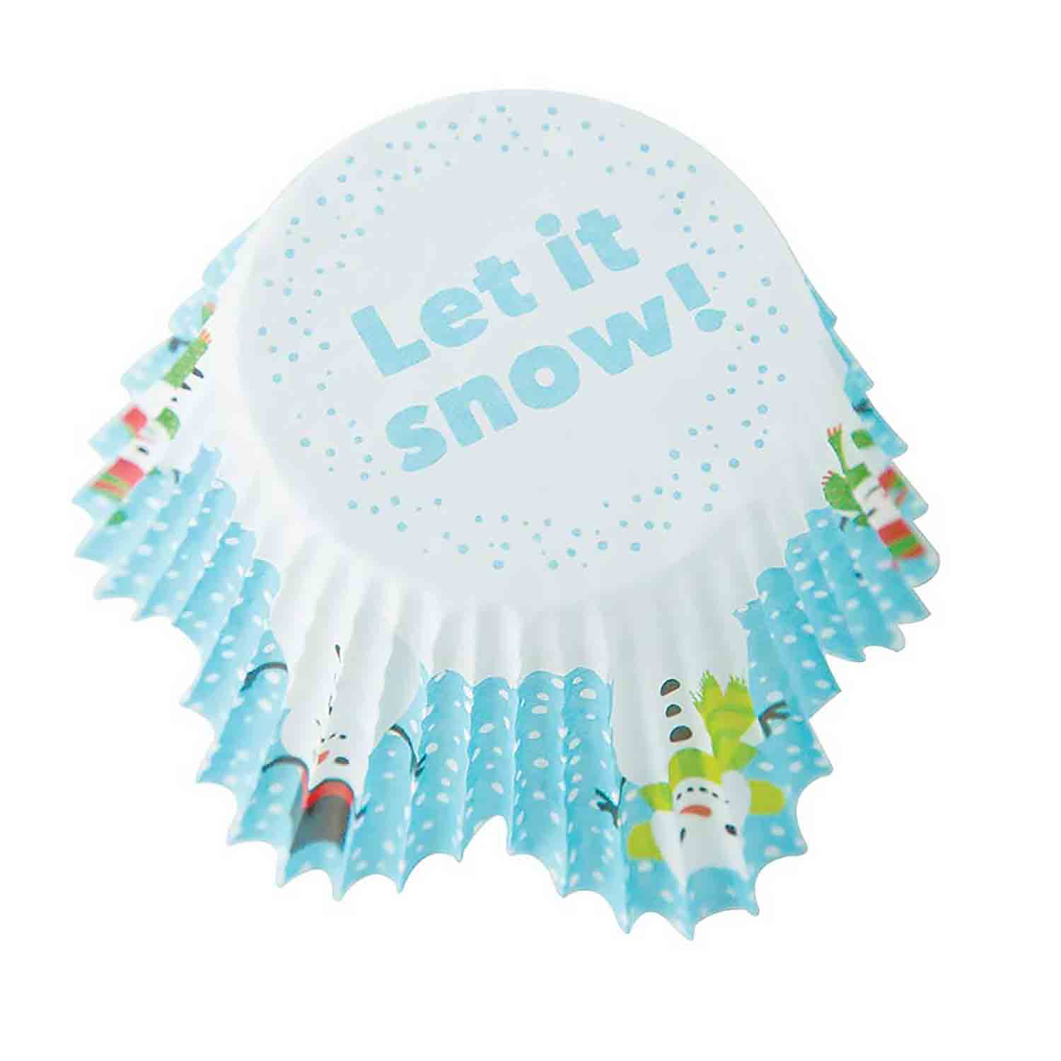 Let It Snow Standard Tulip Baking Cups
