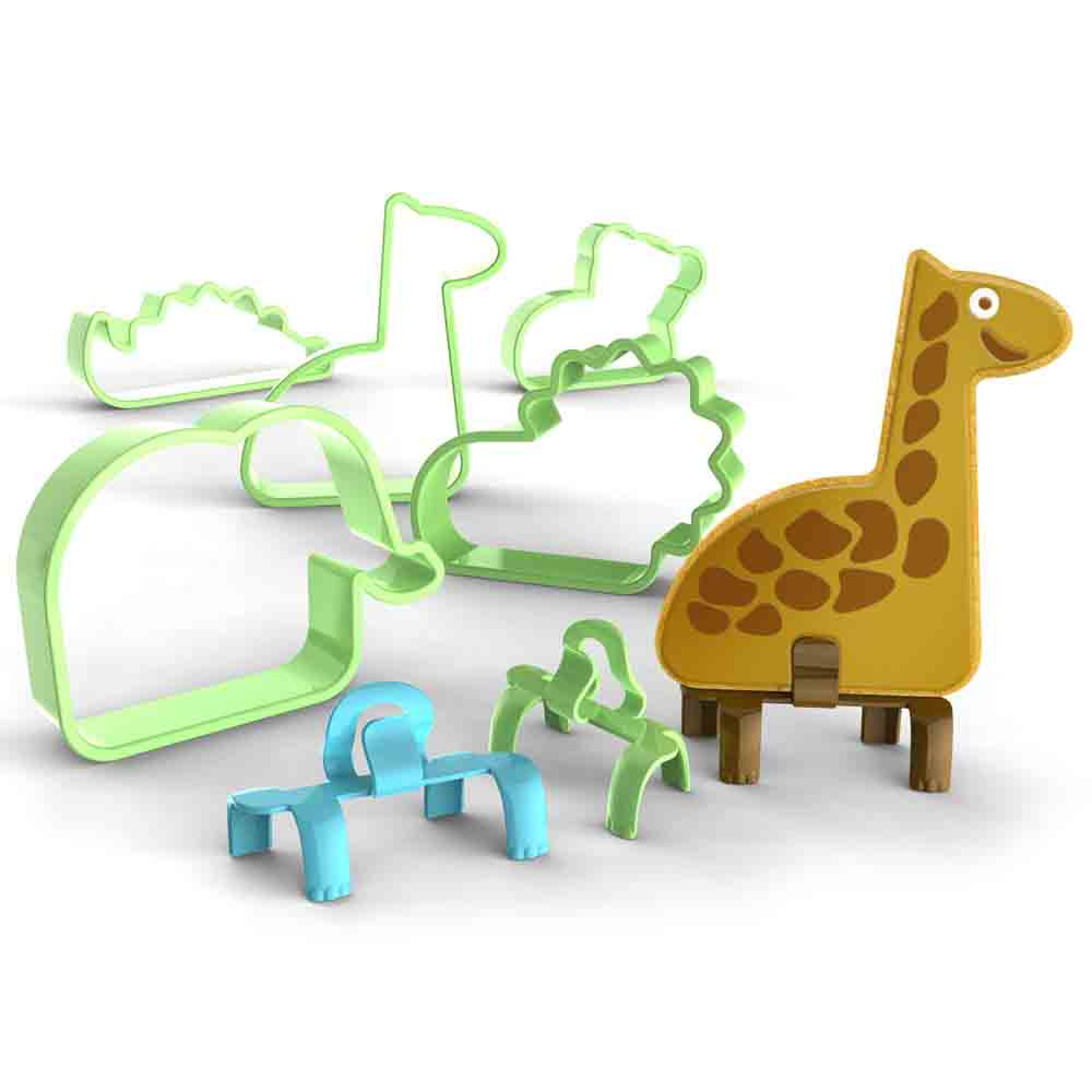 Animal Cookie Cutters and Feet Set