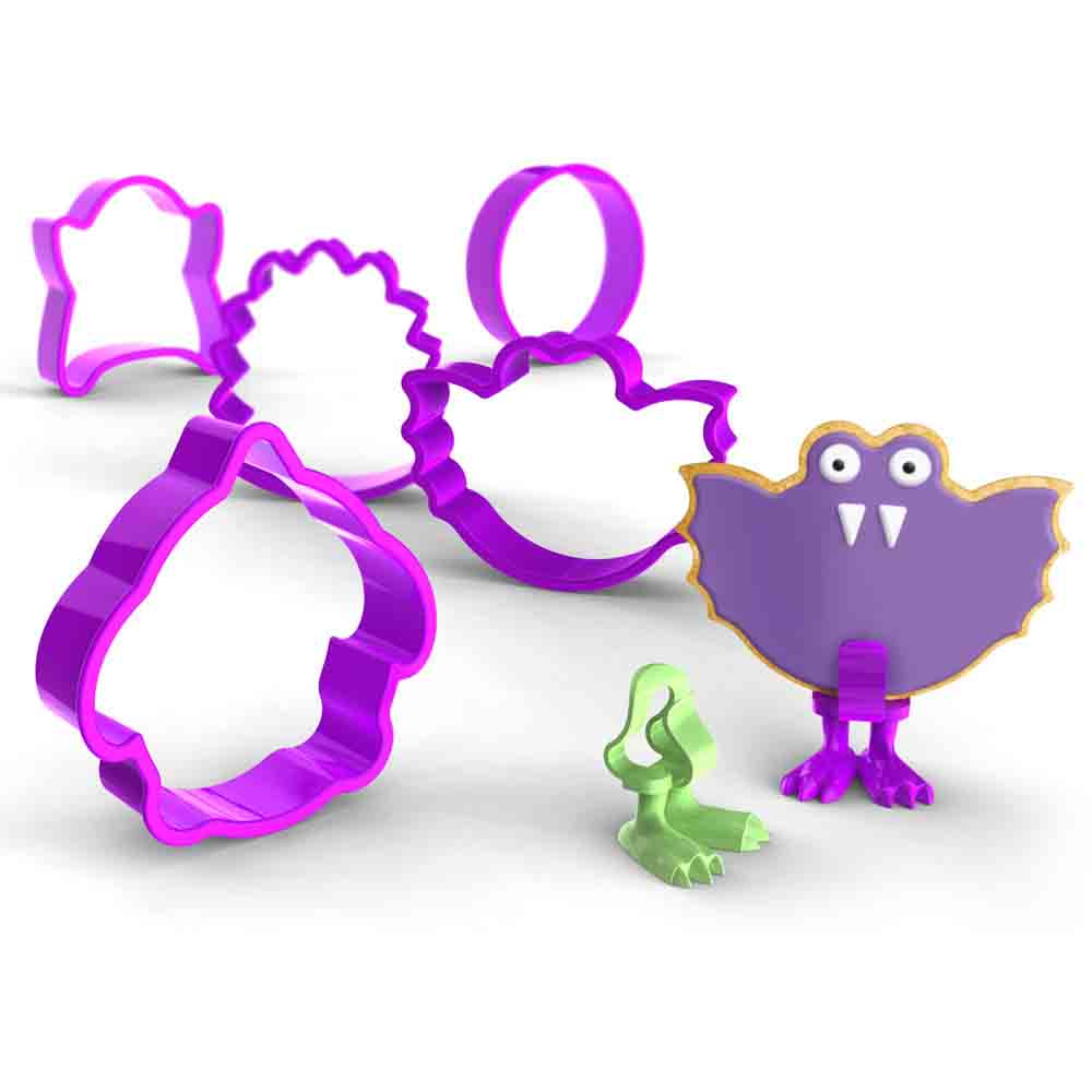 Monsters Cookie Cutters and Feet Set