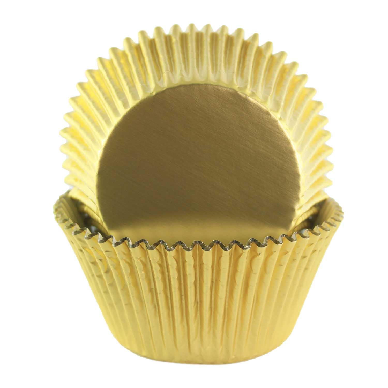 Gold Foil Jumbo Baking Cups