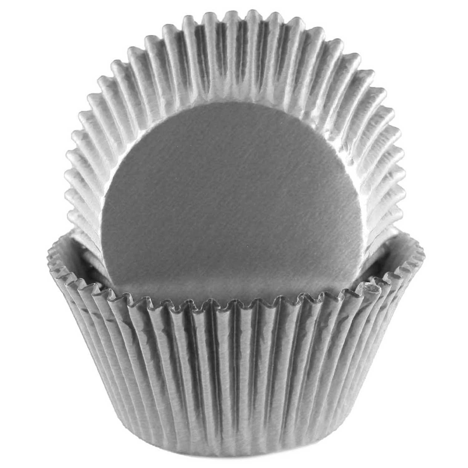 Grey Foil Jumbo Baking Cups