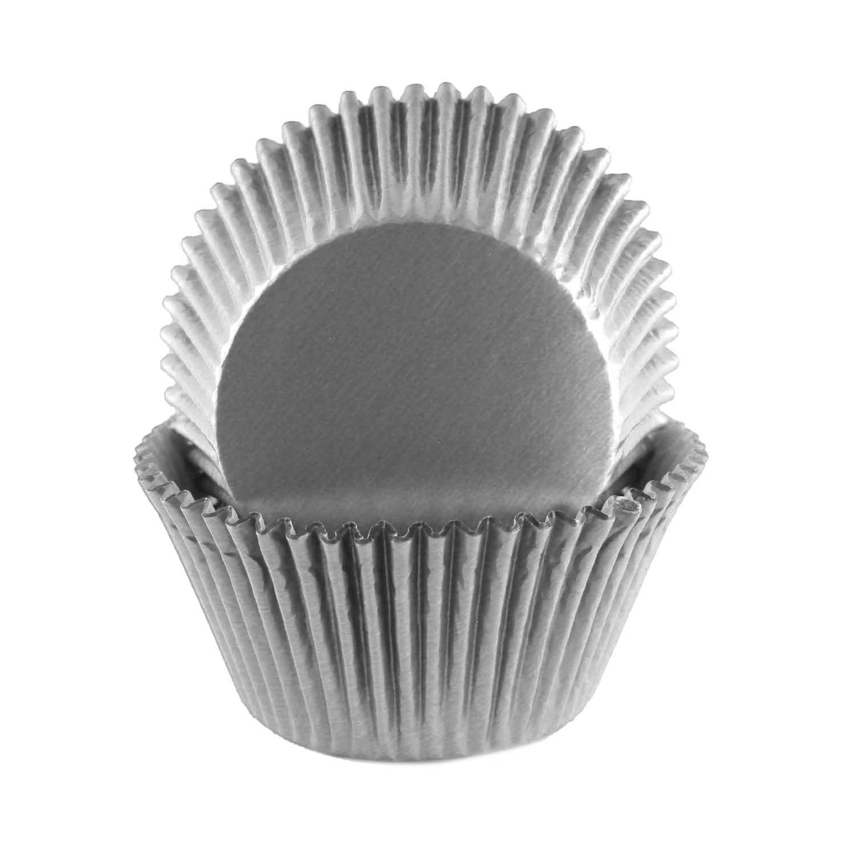 Grey Foil Jumbo Baking Cups