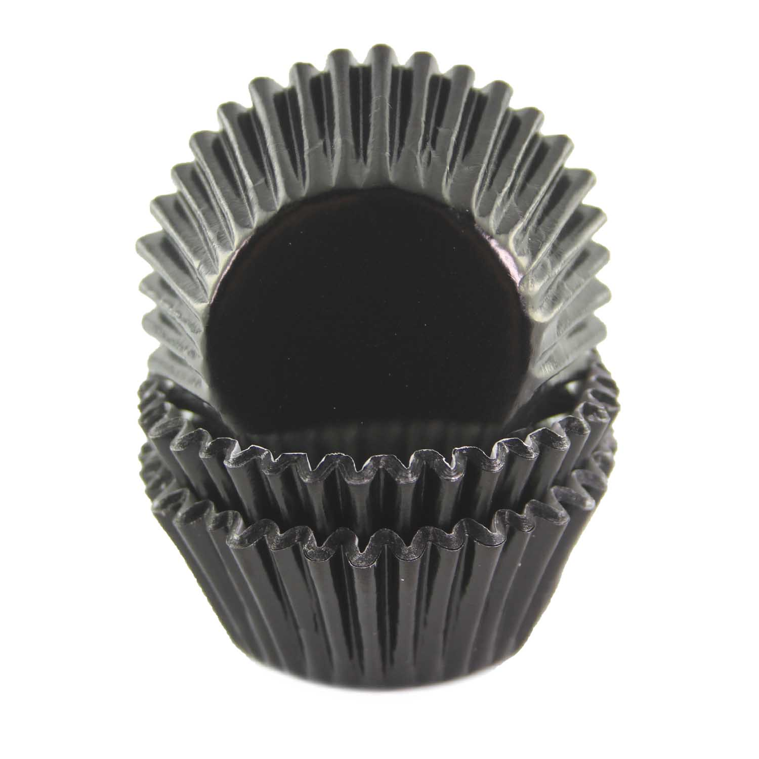Black Foil Mini Baking Cups