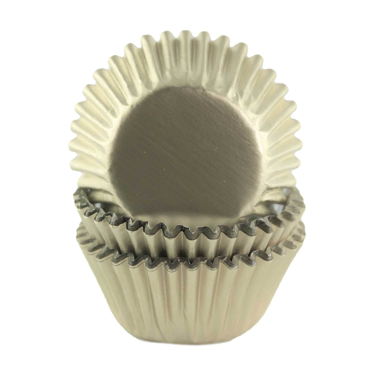 Ivory Foil Mini Baking Cups