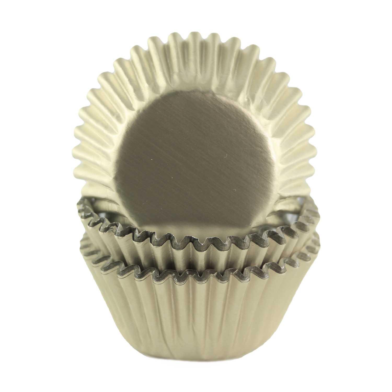 Ivory Foil Mini Baking Cups