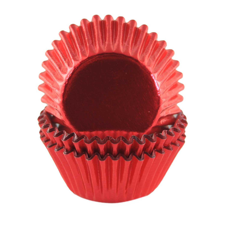 Red Foil Mini Baking Cups