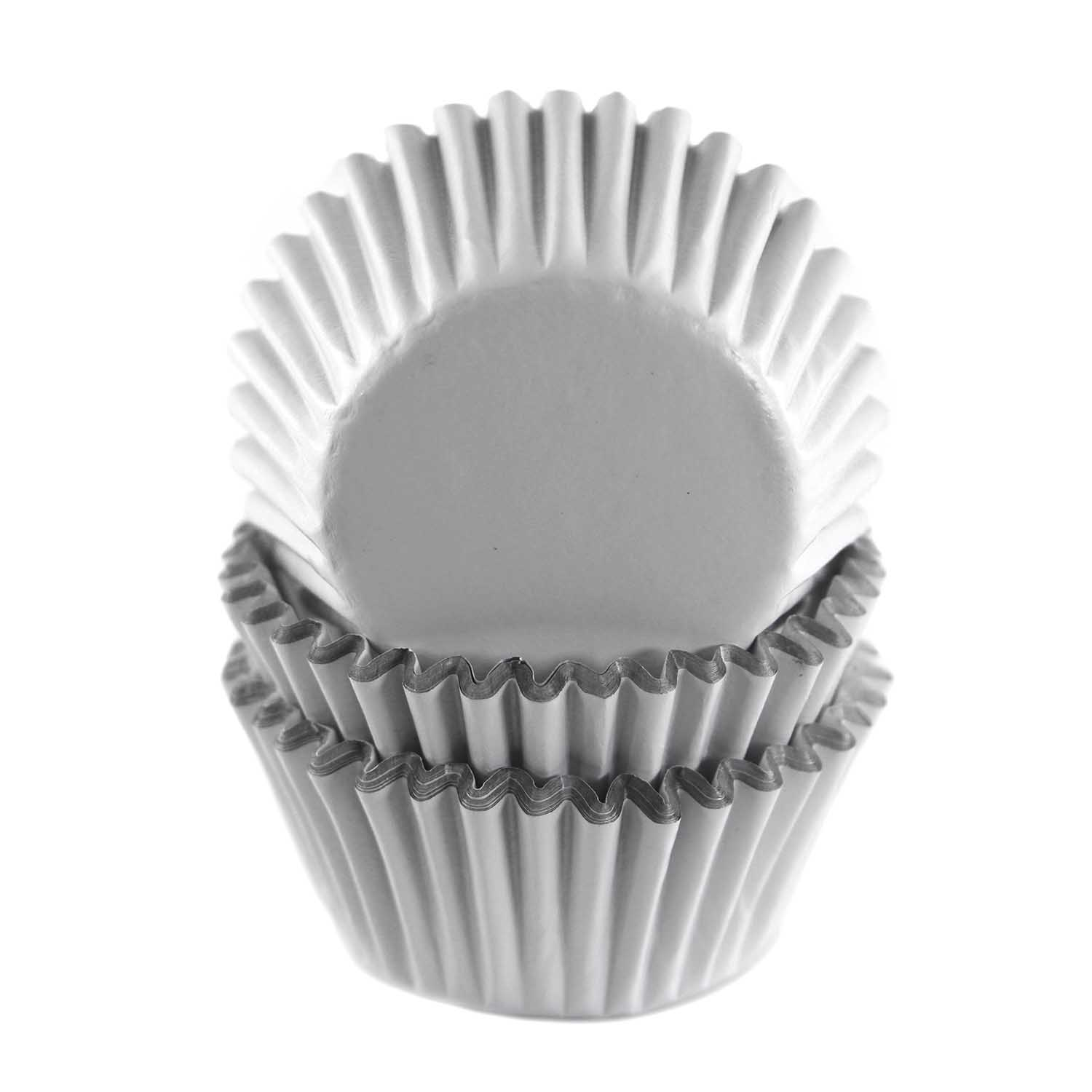 White Foil Mini Baking Cups