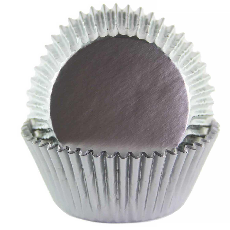 Grey Foil Standard Baking Cups