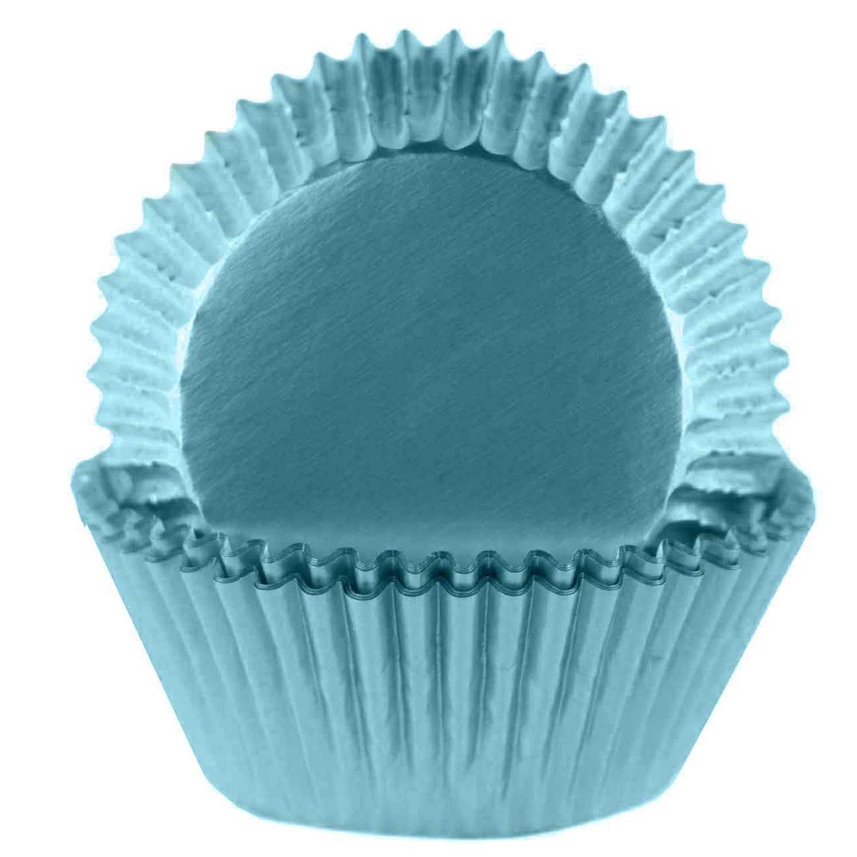 Light Blue Foil Standard Baking Cups