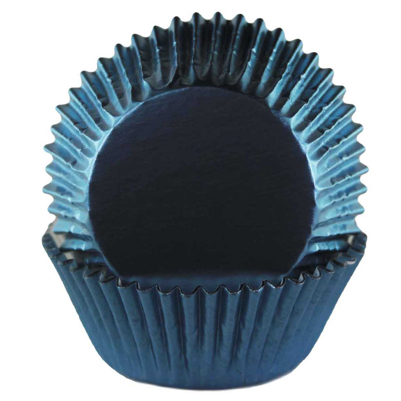 Navy Blue Foil Standard Baking Cups