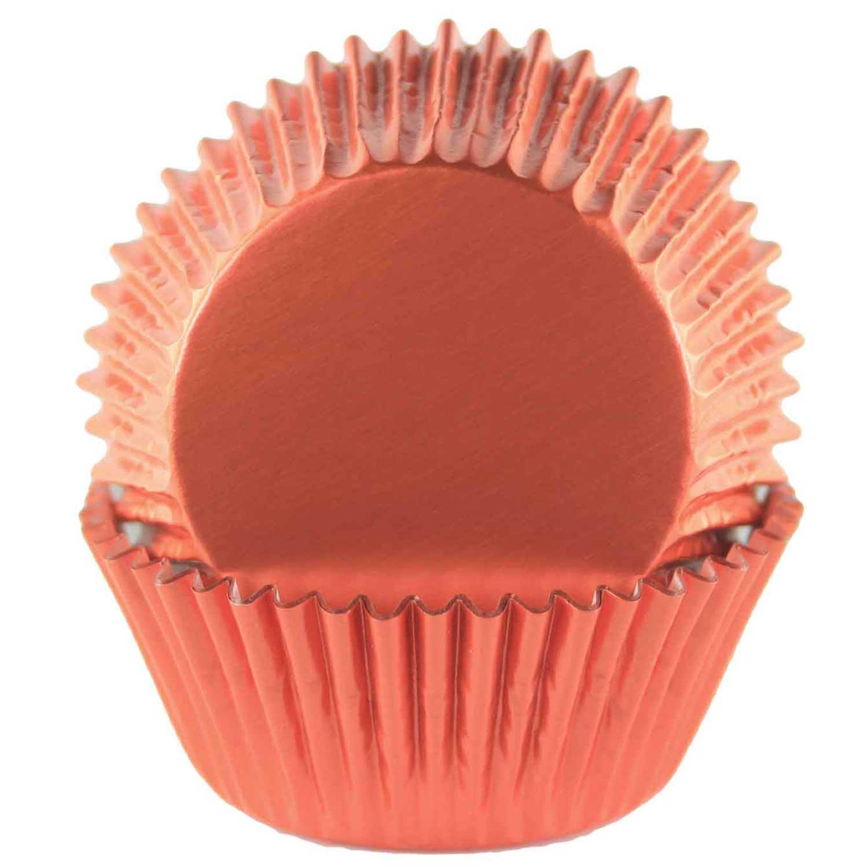 Orange Foil Standard Baking Cups
