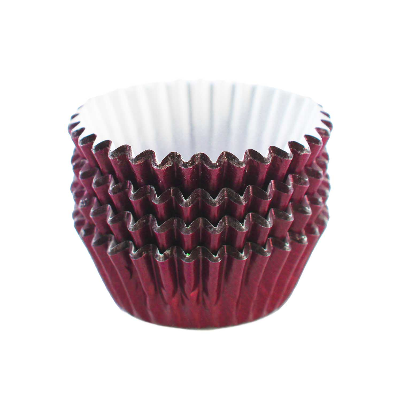 Burgundy Foil Treat Cups